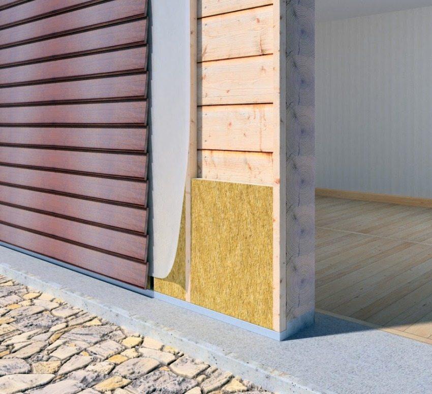 Пример монтажа утеплителя и сайдинга на деревянный дом