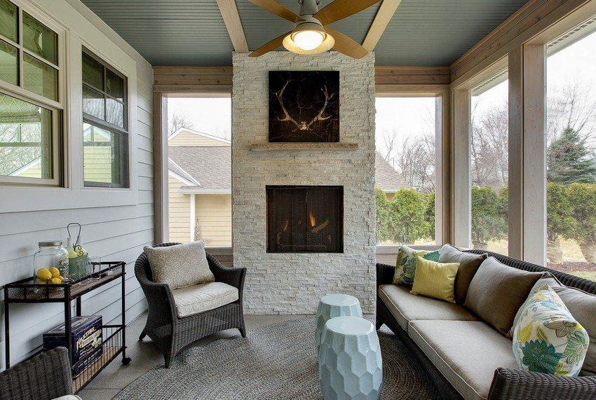 Камин может использоваться для обогрева помещения или служить декоративным элементом