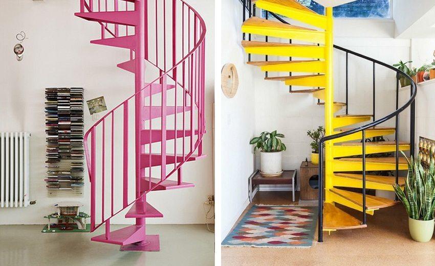 Винтовые лестницы на второй этаж в частном доме: фото, цены
