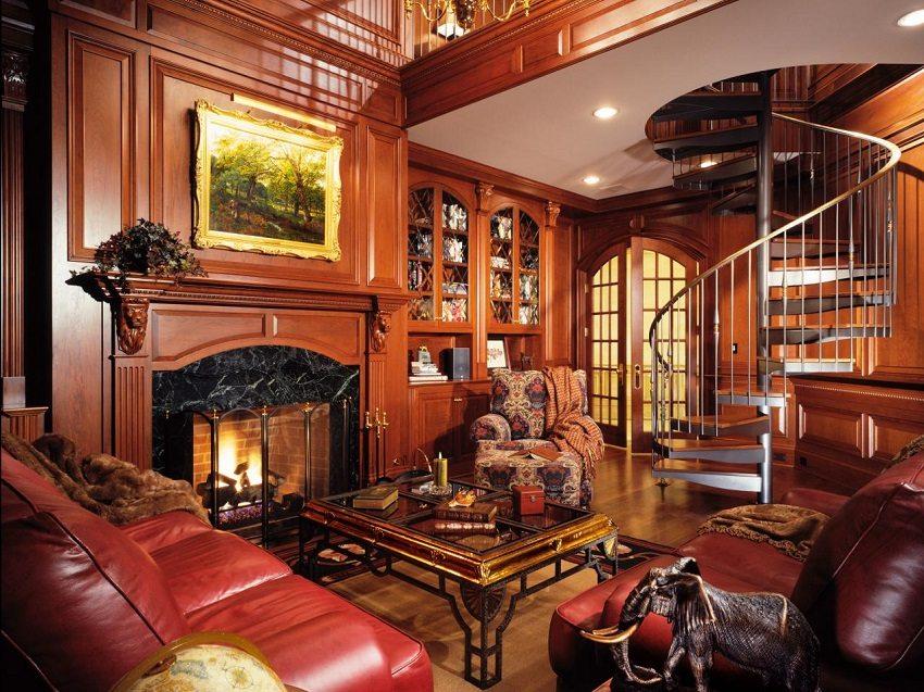 Винтовая лестница впишется в любой стиль интерьера