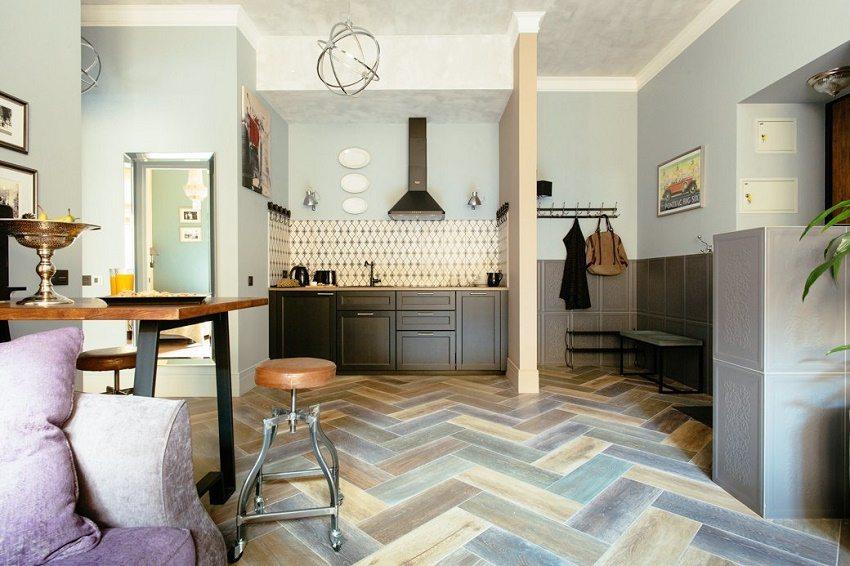 Современное решение для маленькой кухни