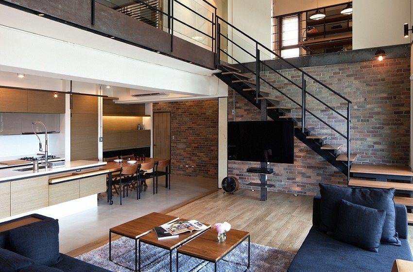 Строгий интерьер с единым стилем мебели и отделки во всем помещении