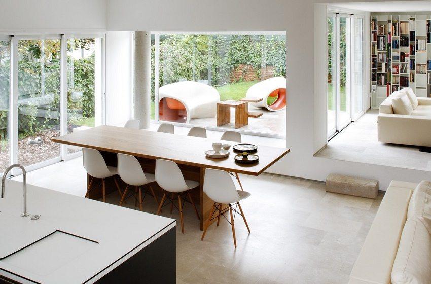 Ощущение легкости и простора создает дизайн, выполненный в стиле минимализм