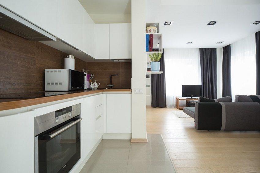 Свободное пространство в кухонной рабочей зоне