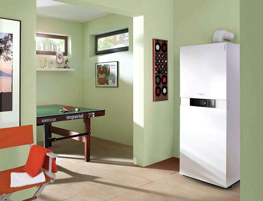 Газовый котел необходимо установить на первом или цокольном этаже дома
