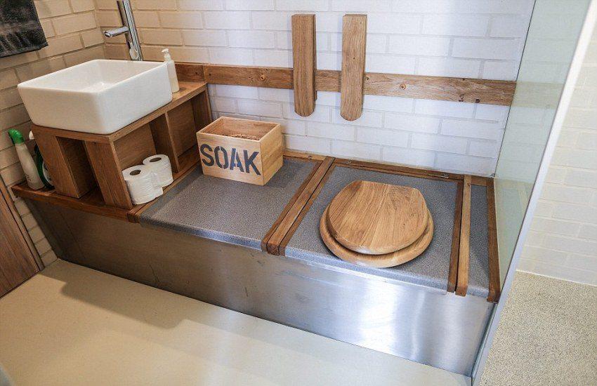 Компостирующий туалет является прекрасным решением для экодома