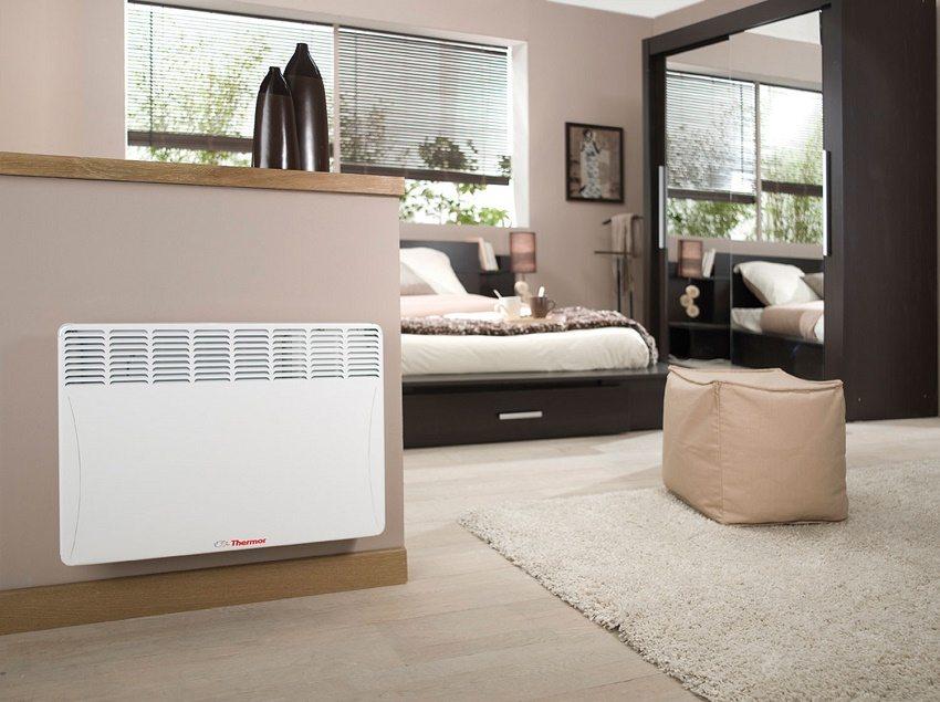 Мощность конвектора зависит от размера обогреваемой комнаты и высоты потолков