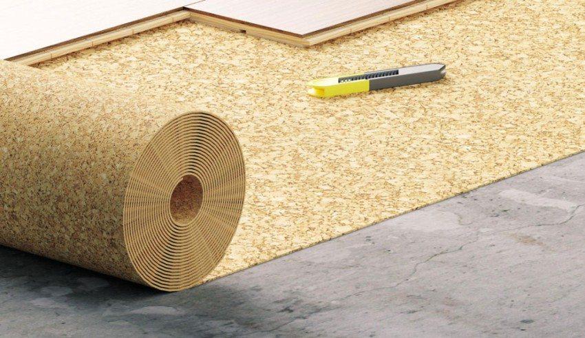 Пробковая подложка имеет высокие показатели звуко- и теплоизоляции
