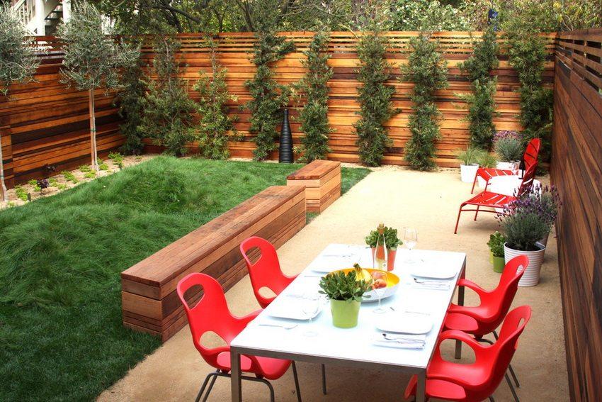 Идея простого и элегантного дизайна дворика