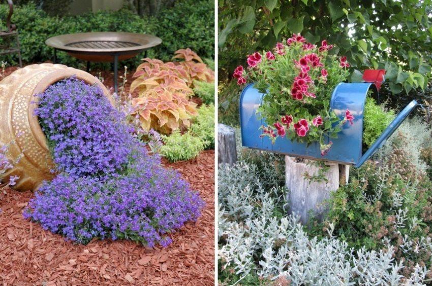 Примеры оригинальных цветников на дачном участке