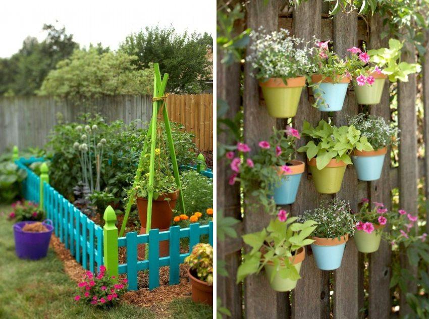 Примеры оригинального обустройства овощных грядок и цветников