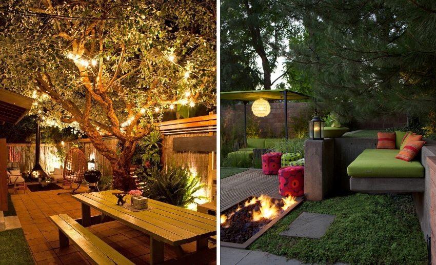 Удачные примеры освещения загородных участков
