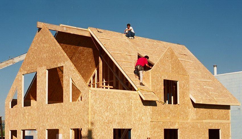 ОСБ плиты применяются в каркасном домостроении