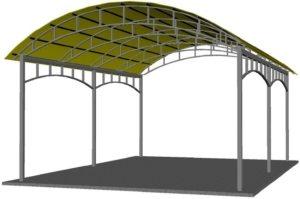 Проект навеса для автомобиля с покрытием из поликарбоната