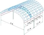 Чертеж каркаса для навеса арочной формы