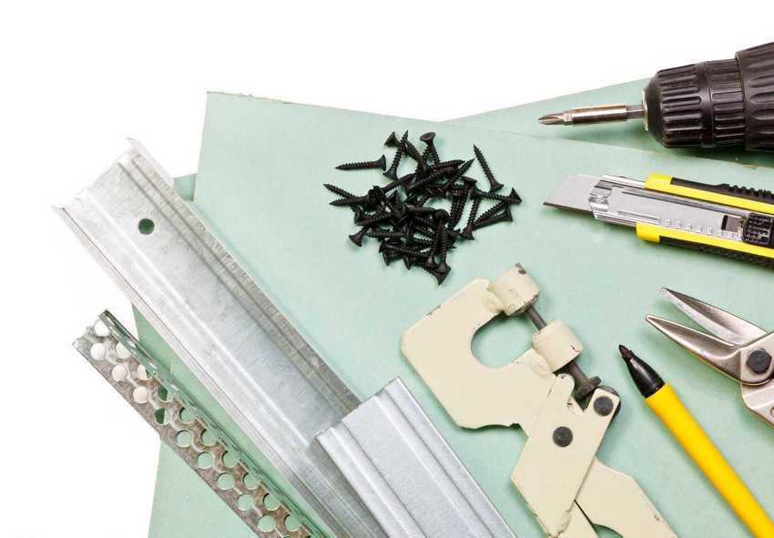Инструменты, необходимые для монтажа потолка из гипсокартона