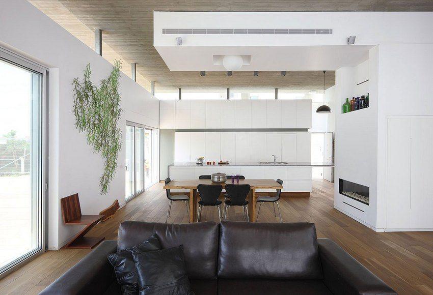 С помощью гипсокартонного потолка можно создать уникальный дизайн гостиной