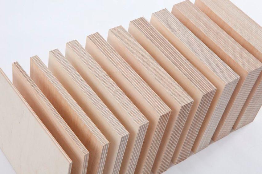 Толщина листа фанеры может варьироваться от 16 до 76 мм