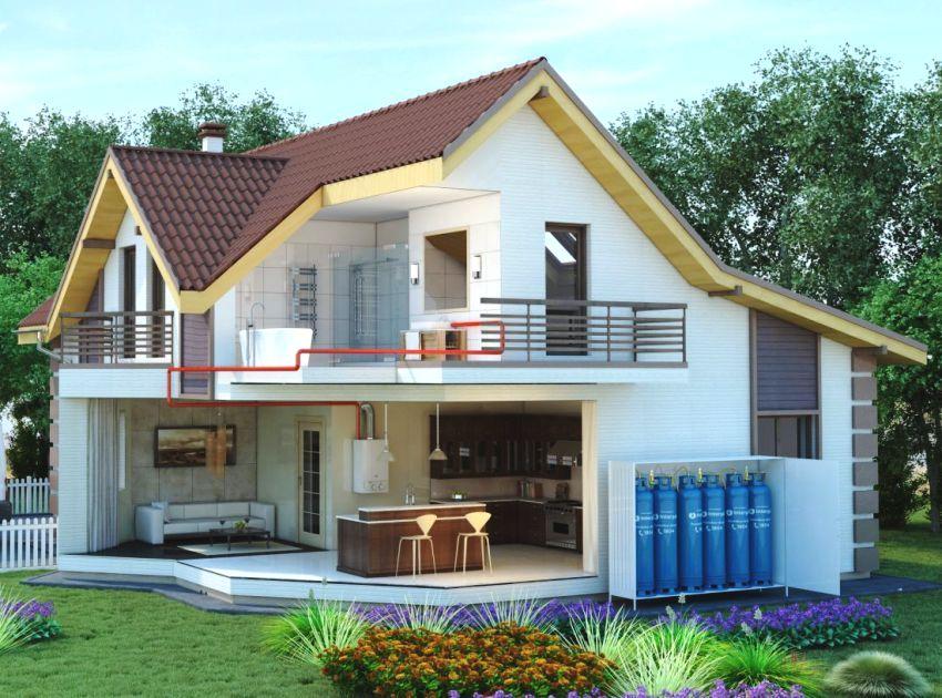 Автономное отопление загородного дома с использованием газообразного топлива
