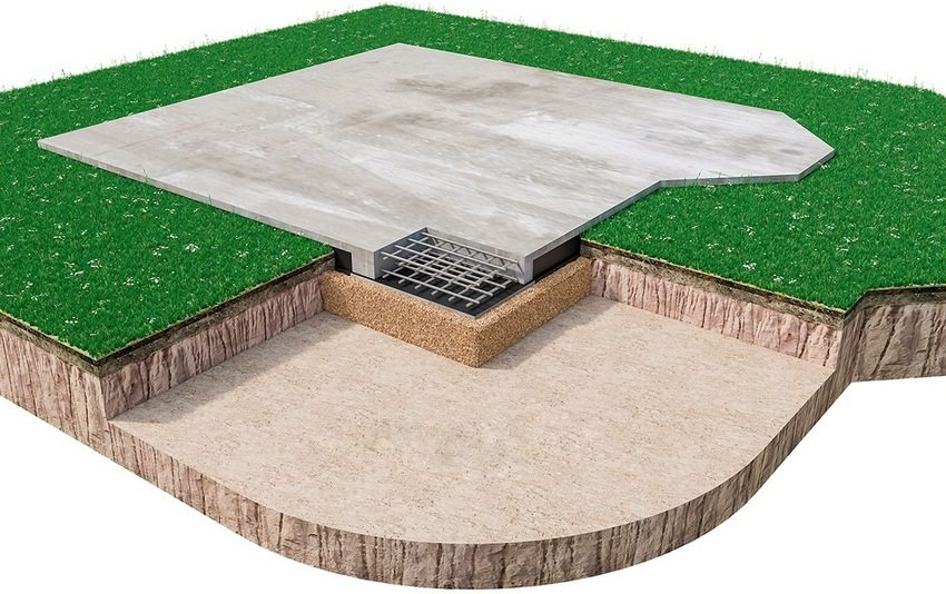Песочно-щебневая подушка является дренажным и амортизационным элементом фундамента