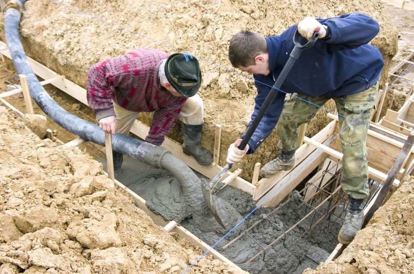 Процесс строительства ленточного фундамента