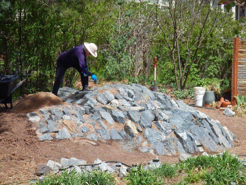 В объемных рокариях принято использовать горные породы камней с грубой фактурой
