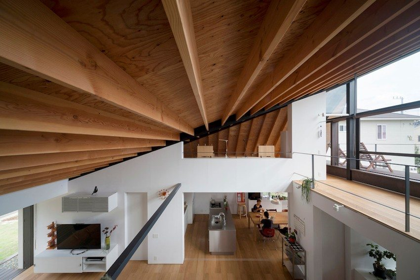 Дом с общей крышей для первого и мансардного этажей