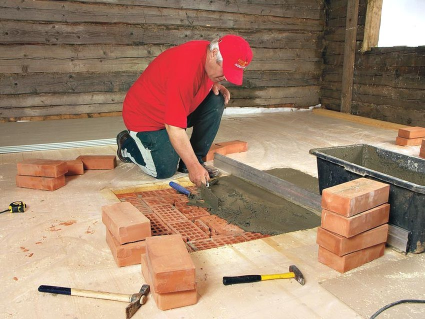 Процесс строительства дровяного камина