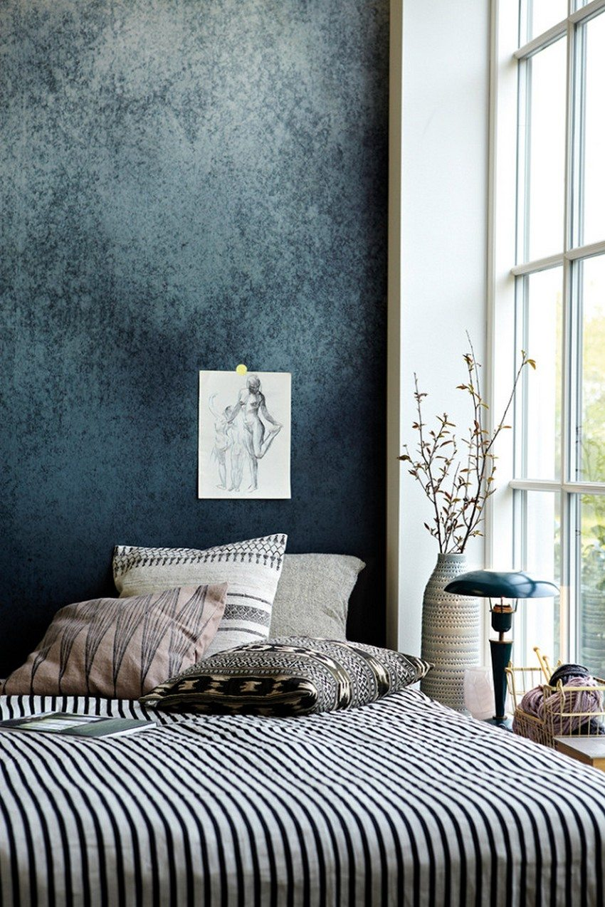 Wallpaper based on textiles and paper are highly ecological