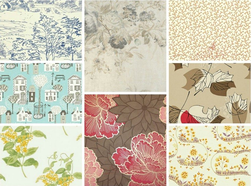 In the building materials market, the wallpaper is represented by a large variety of types and colors