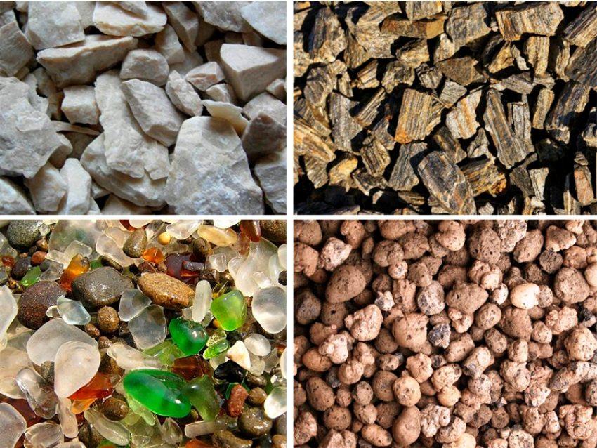 Габион можно наполнять гранитом, базальтом, кварцитом, песчаником и другими видами камней