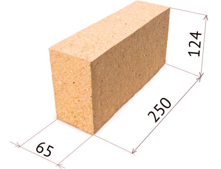 Размеры огнеупорного шамотного (печного) кирпича