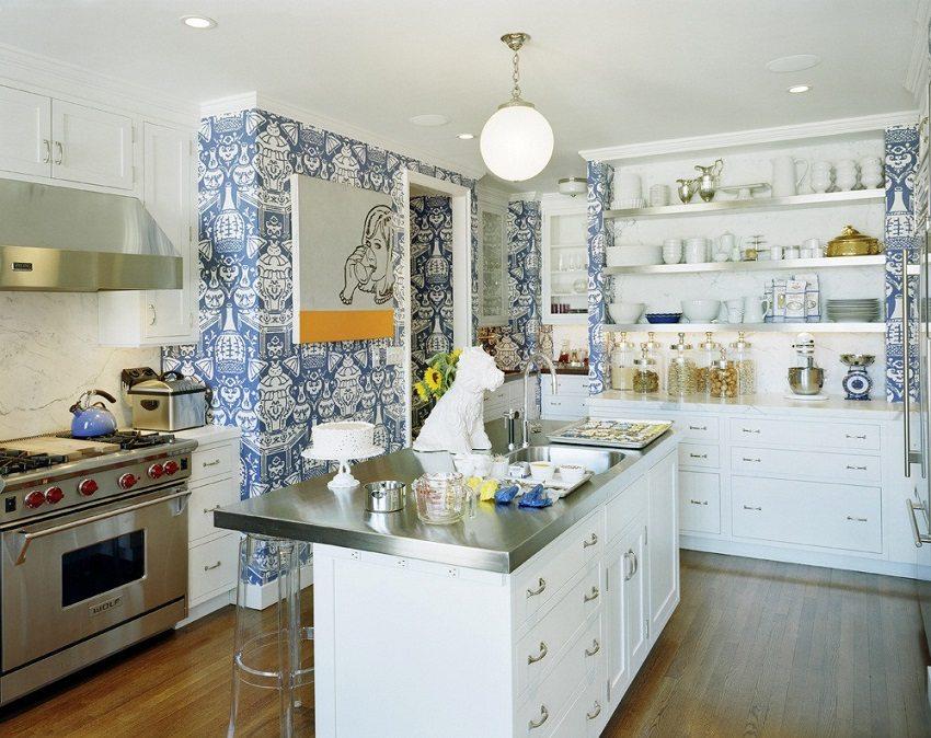 Моющиеся обои внесут разнообразие в дизайн кухонного помещения