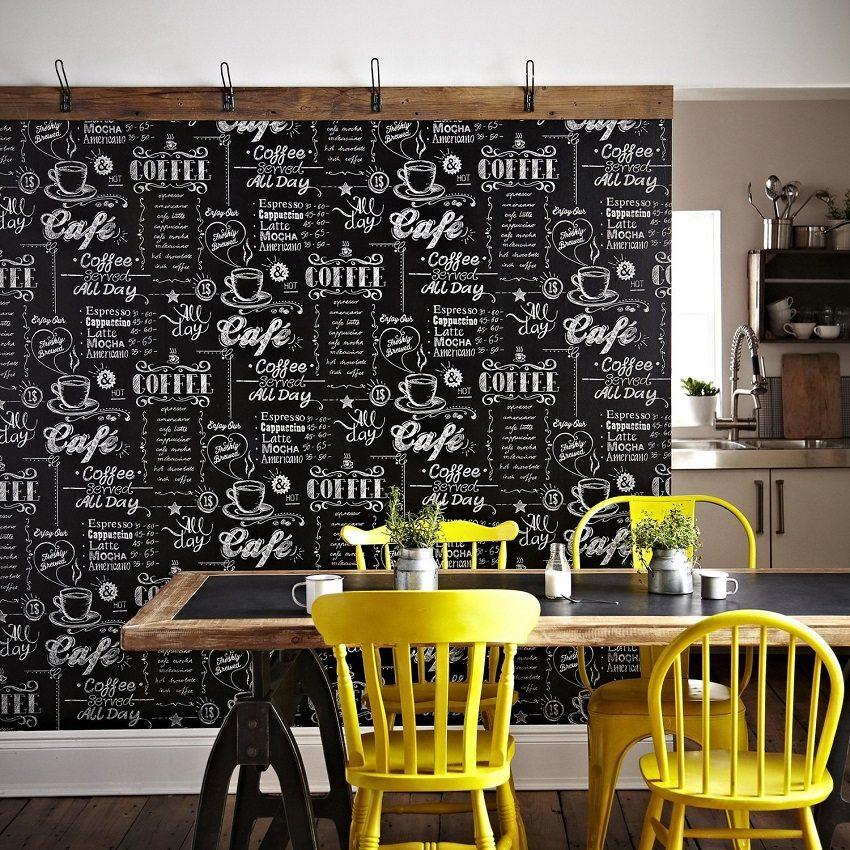 Изобилие разных текстур и рисунков позволяет создать неповторимый дизайн кухни