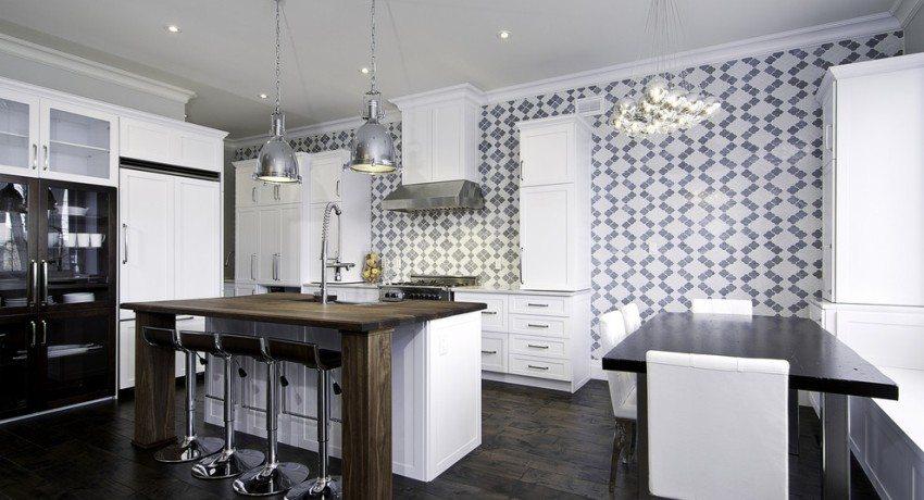 Обои для кухни: 70 фото, советы как выбрать — Идеи дизайна | 460x850
