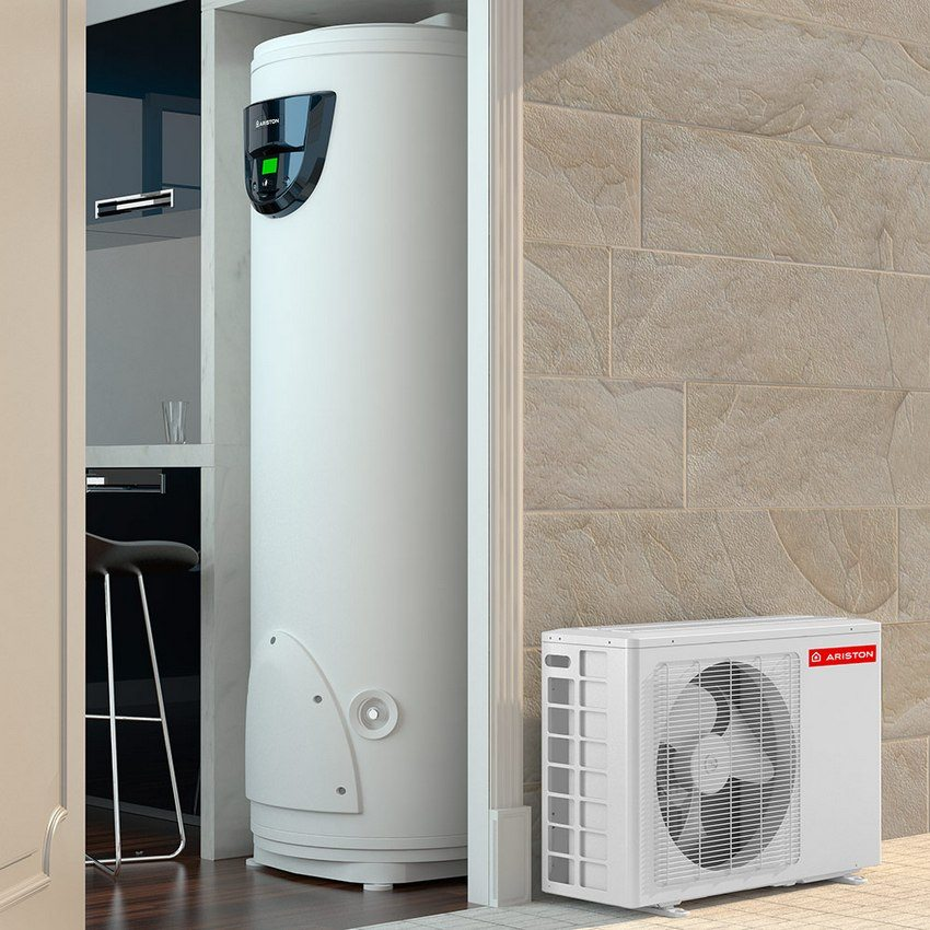 Напольная модель водонагревателя с тепловым насосом