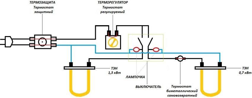 Схема устройства защиты бойлера от перегрева