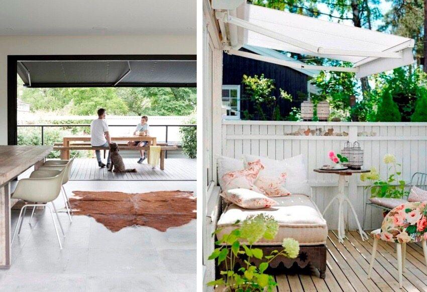 Жарким летом приятно посидеть в тени внутреннего дворика