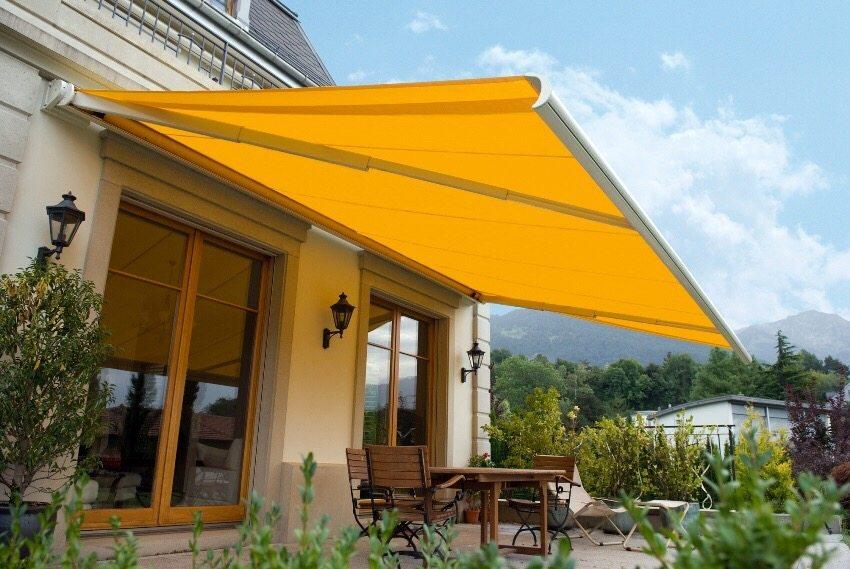При помощи маркизы можно не только защитить свой дом и летнюю террасу от солнца, но и украсить свой дворик