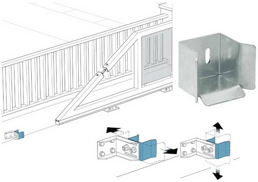 Схема установки нижнего уловителя