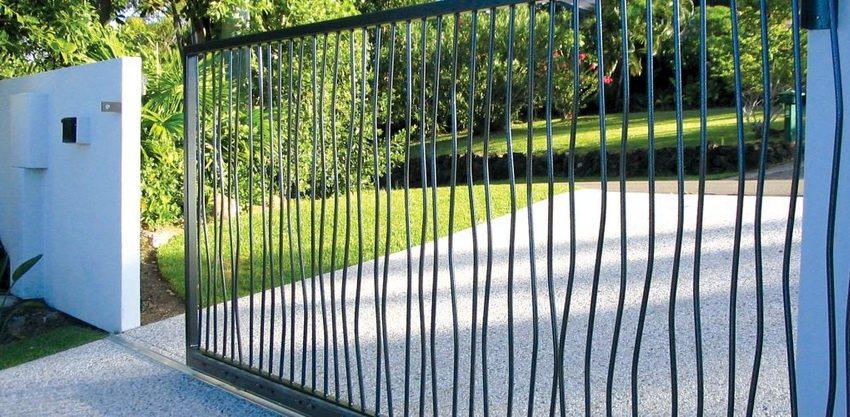 Откатные ворота могут использоваться как для приватных так и для общественных участков