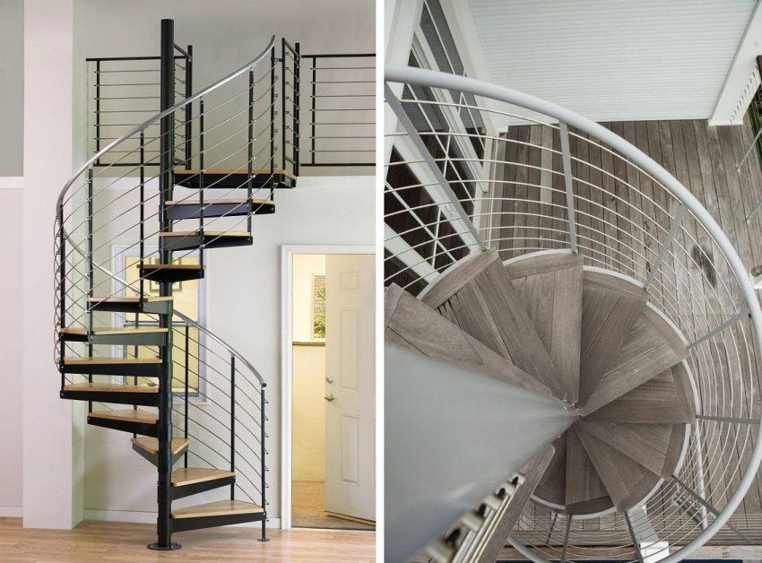 Перила для винтовых лестниц более сложные в изготовлении и поэтому стоимость их выше