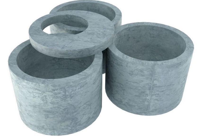 Септик из бетонных колец является приемлемым по цене и не очень сложным в установке вариантом