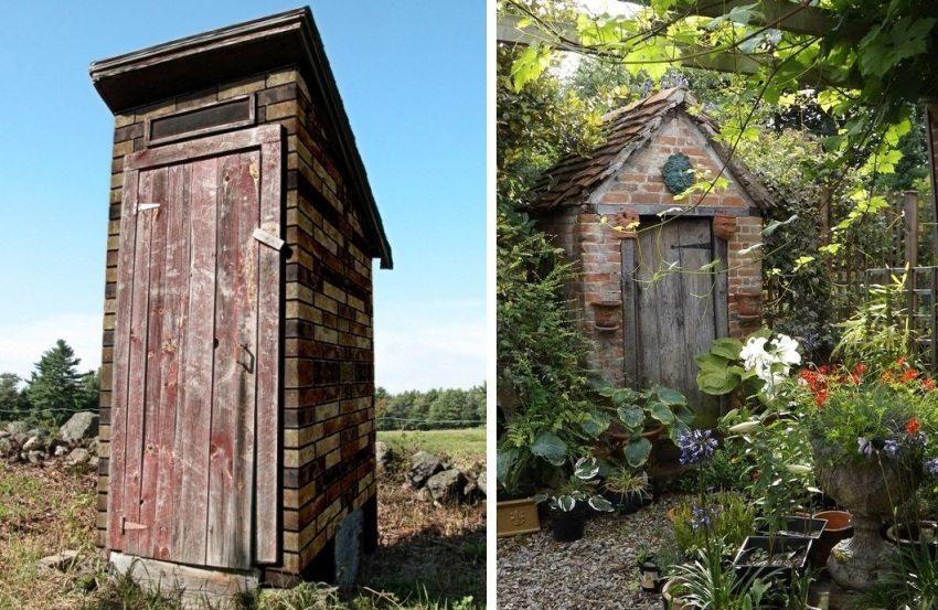 Примеры кирпичных туалетов на дачном участке