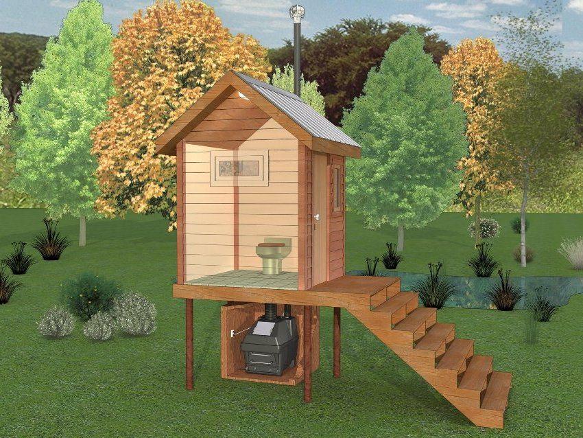 3D-проект обустройства люфт-клозета на загородном участке