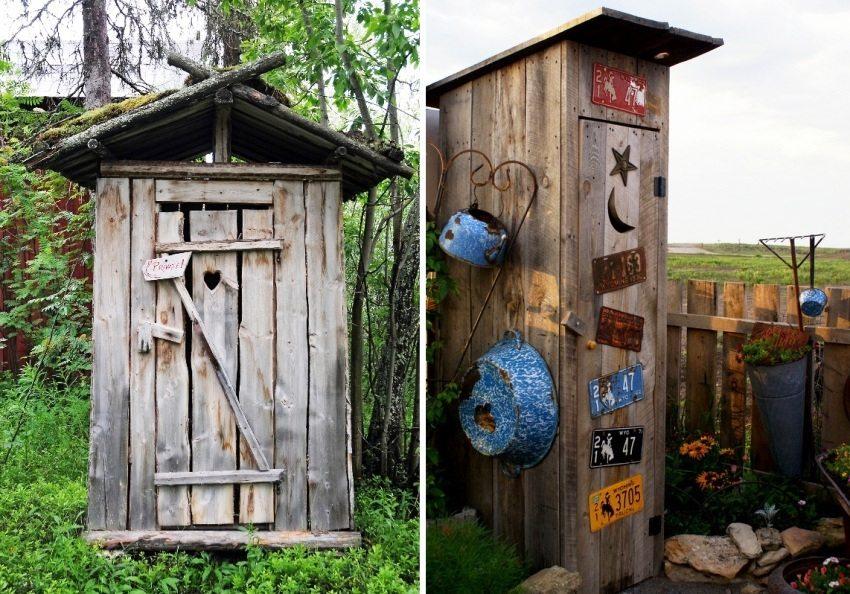 Примеры туалетов из дерева, построенных своими руками