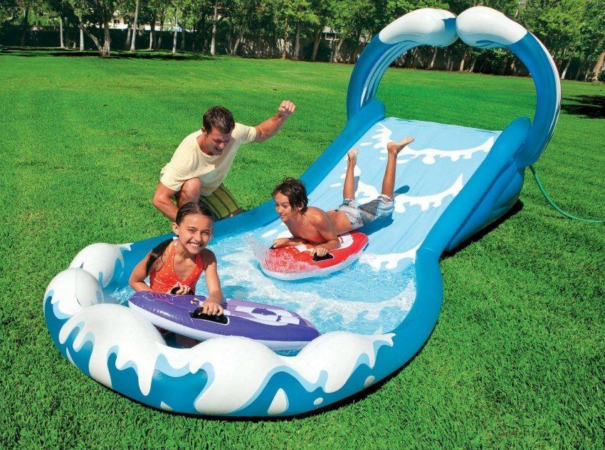 Надувной бассейн-горка для активного отдыха детей