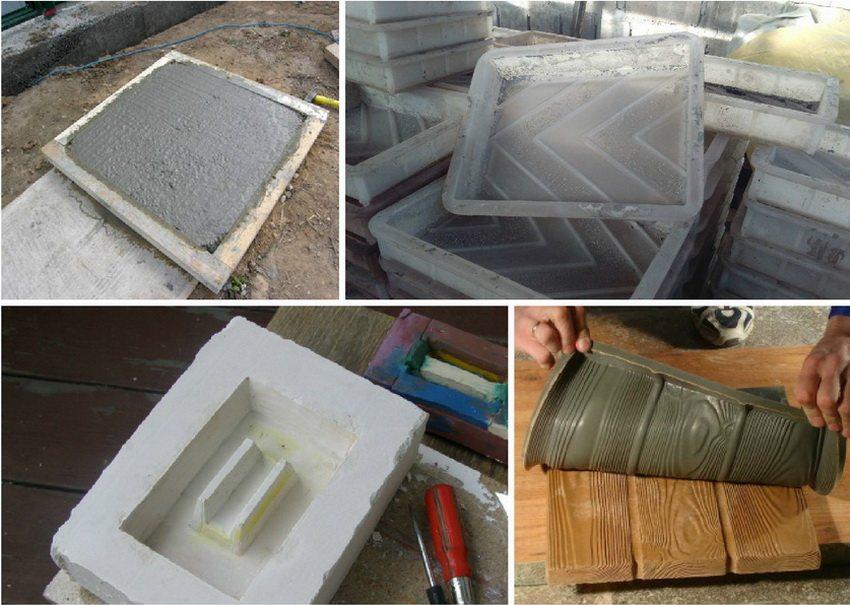 Для изготовления формы для плитки можно использовать различные материалы: дерево, пластик, силикон, гипс