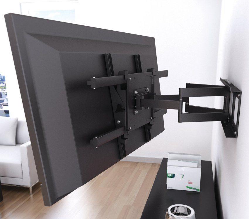 Для телевизора с черным корпусом подобран кронштейн аналогичного цвета