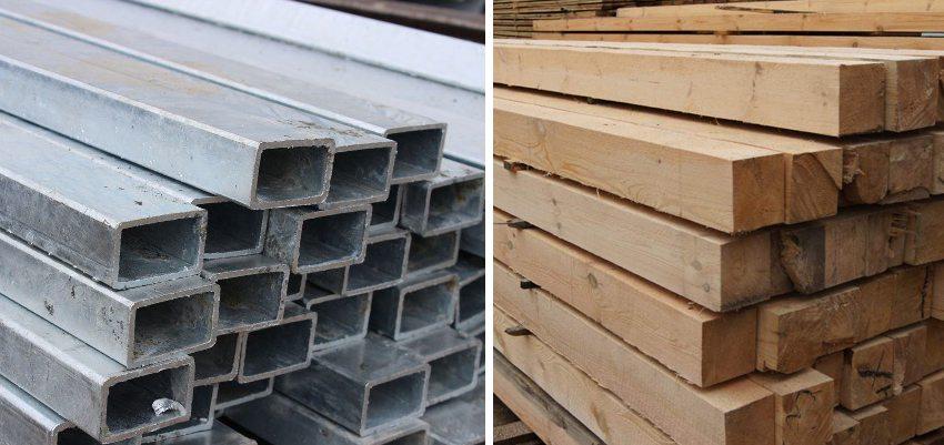 Основные материалы для создания скамьи своими руками: профильные трубы и деревянные брусья